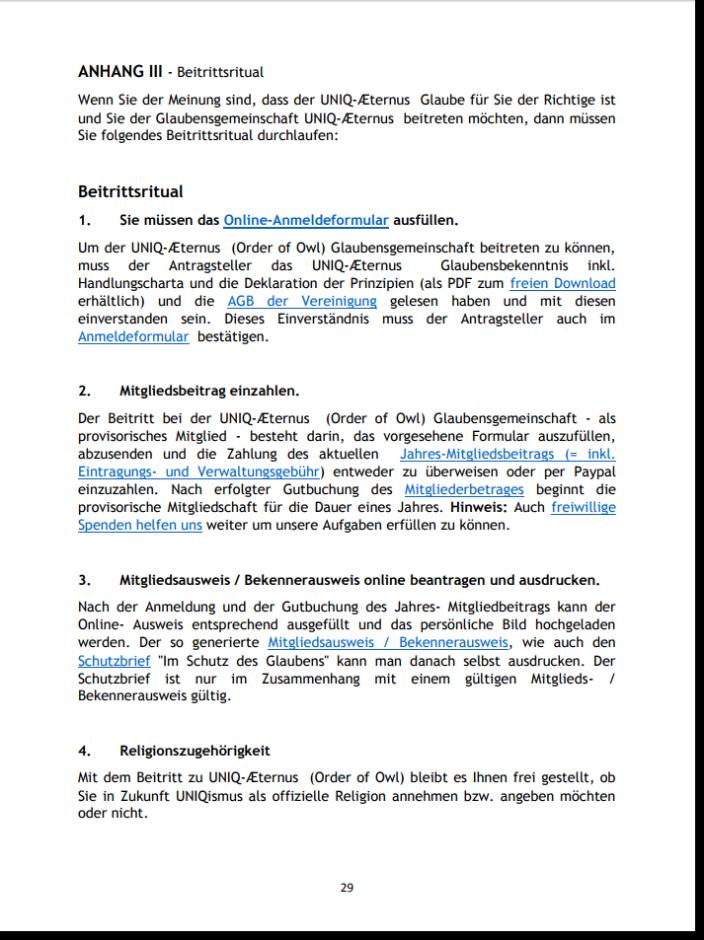 Seite 29 Anhang III, 4 - UNIQ-Æternus Dokumentationsseite, die Seite ...